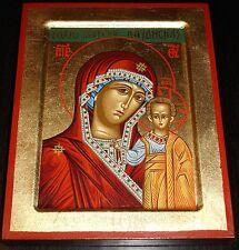 Russische Ikone Muttergottes Maria von KASAN Kazan Ikonen Icon Icona Icone Ikona