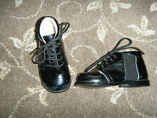 BLACK PATENT BABY SHOES EARLY DAYS  6-12 MONTHS