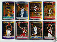 2006-07 Topps Chrome Basketball Complete Set - 210 Cards