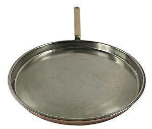 Spring Culinox GL Swiss Copper Crepe Pancake Pan Bronze Handle Switzerland
