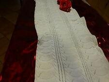 1m,32x0,39 bande tricoté e coton fin , torsades  t b état
