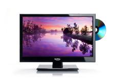 """16"""" Zoll LED TV 40cm 15.6"""" Fernseher DVB-C/T2/S2, DVD, 12V & 220V"""