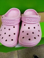 Girls Kids Toddlers Classic Crocs Size 9 Light Pink