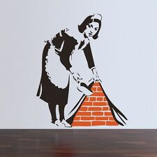 Banksy French maid Vinyl Wall Decal Sticker Street Art Graffiti Bedroom Kitchen