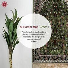 Al Haram Pray Mat With Gift Bag Luxury Madina Prayer Rug 110x70 Green