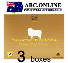 3x MAXI 50000 Placental Baby Sheep Well Being Placenta Halal Australia