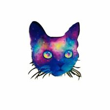 Cat Purple Velvet (Iron on) Embroidery Applique Patch Sew Iron Badge