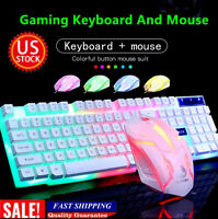 Keyboard Mechanical And Mouse Combo Gaming Led Set Compatible For PS 4 Wired USA