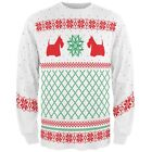 Scottie Dog Ugly Christmas Sweater All Over Adult Long Sleeve T-Shirt