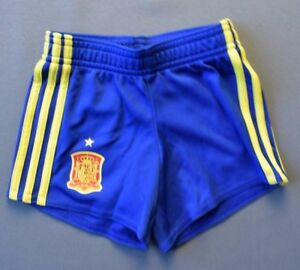 Spain Baby Football Shorts Size 6-9 Month Blue Soccer Adidas AA0840 ig93