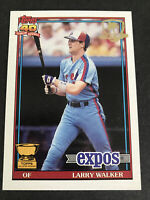 1991 Topps LARRY WALKER Desert Shield Montreal EXPOS ROOKIE CUP #339 HOF 2020