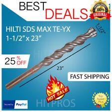 """Hilti Te-Yx 1-1/2"""" X 23"""" Drill Bit Sds Max, New, Free Hilti Hat, Pen, Fast Ship"""