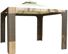 10x10 10'x10'  Wicker Rattan Outdoor Gazebo Shelter Canopy Tent Awning Furniture