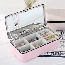 Schmuckkästchen Organisierer Schatulle Reise Makeup Gehäuse Kosmetik Behälter