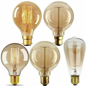 E27 E14 40W 60W Vintage Retro Edison Antique Filament 240V Light Bulb