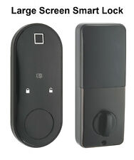 Oval Smart lock Us standard Open w App, Fingerprint, Pin, Ic card & Physical Key