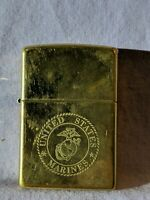 Vintage ~ United States Marines Corps Gold Zippo Lighter with Symbol