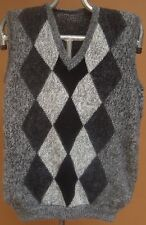 NEW, 100% ALPACA WOOL MEN´S VEST, L SIZE, SOFT, GRAY COLOR, ANDEAN, WARM, SOFT a