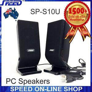 SPEED SP-S10U 2.0 CH 6W PC Speakers for Desktop Laptop Computers - (USB Powered)