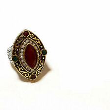 Simulated Ruby Ring Us 10 Women Vintage_finish Turkish Jewelry Sterling Silver