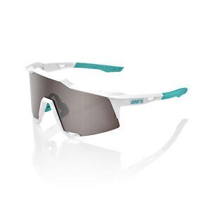 100% Sunglasses SPEEDCRAFT BORA Hans Grohe Team White  HiPER Silver Mirror Lens