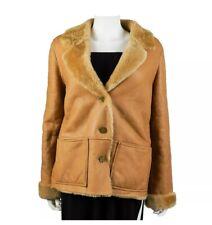 Chanel 04A Soft Lambskin Shearling Fur Suede Jacket Tan Coat 2 Pocket 38