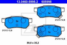 Bremsbelagsatz, Scheibenbremse für Bremsanlage Hinterachse ATE 13.0460-5998.2