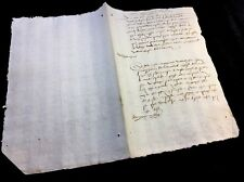 VERY OLD DOCUMENT 1580
