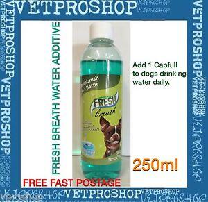 Fresh Breath For Dogs 250ml - Breath Freshener Water Additive