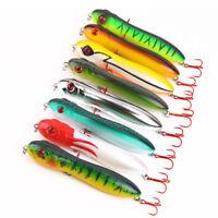 Popper Snake Head Pencil Bait 10cm 14.8g Fishing lure Crankbait Sea Bass Pike