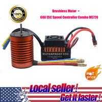 9T 4370KV Brushless Motor + 60A ESC Speed Controller ME720 for 1/10 RC Car CH