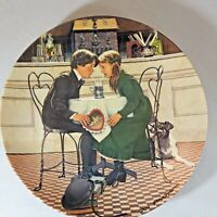 """Vintage The Edwin Knowles Fine China Decorative Plate """"Valentine's Day"""""""