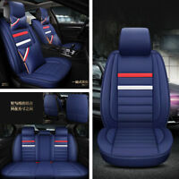 Car Front + Rear Seats Cover Set 5-Seats Cushion Protector PU Leather Durable