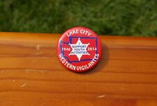 """Lake City Western Vigilantes I Support Youth Activities 1946-2014 1 3/4"""" Button"""