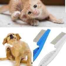 flea comb dog cats puppies pets metal easy grip grooming hair fur cut