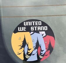 Star Trek Bumper Sticker, Star Trek United We Stand Decal