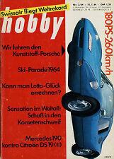 hobby 2/64 1964 Mercedes 190 Citroën DS 19 Porsche 904 GTS DC-8 Swissair London