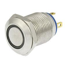 Angel Eye Blue LED Light 3V 12mm Stainless Steel Momentary Push Button Swit 13HE