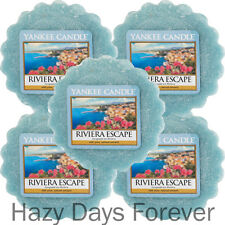 5 YANKEE CANDLE WAX TARTS MELTS Riviera Escape BUY 2+ SAVE 20%