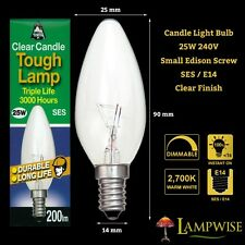 BELL LIGHTING 25 WATT CLEAR SES E14 SMALL EDISON SCREW CAP