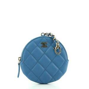 Chanel Clip On Coin Purse Quilted Caviar