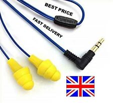 Original Plugfones Yellow - 30 days warranty - Earplug that plays Music Free P&P