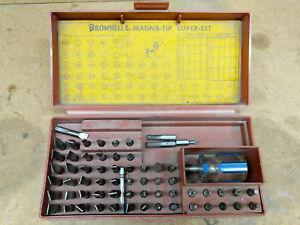 Brownells magna - tip super set gunsmithing screwdriver kit filster head