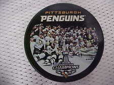 2016 NHL Pittsburgh Penguins Stanley Cup Champions Team Photo Hockey Game Puck