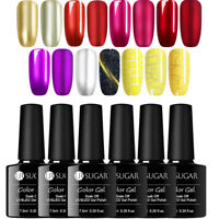 UR SUGAR 7.5ml Nagel UV Gellack Yellow Crackle Soak Off UV LED Gel Nagellack