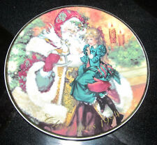 "Avon Christmas 1994 Collector Plate ""Heavenly Dreams"" Porcelain 22K Gold Trimmed"