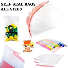 Self Seal Clear Cellophane Bags Plastic Crafts Small Large Sweet Wax Cards Gifts