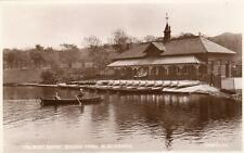 Boat House Queens Park Blackburn unused RP old pc 1930 Valentines
