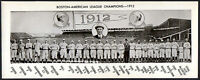 NEAT! 1912 Boston RED SOX Panorama Photo TRIS SPEAKER JOE WOOD EDDIE CICOTTE