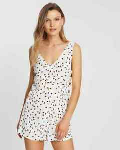 Tigerlily Gaia Playsuit White Button Playsuit 6 - 14 NEW $149 Tigerlilly VIDEO
